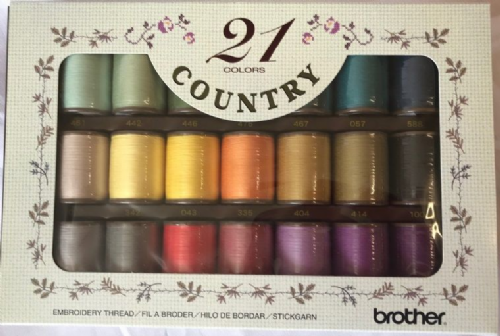 Brother Emb Threads COUNTRY BOX OF 21 B246